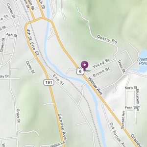 Map of Honesdale store